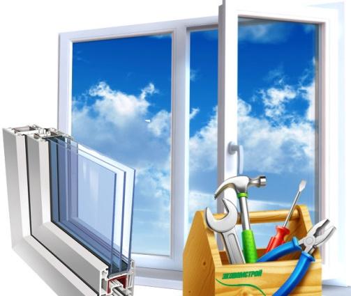 ابزار برای تعویض شیشه پنجره یو پی وی سی